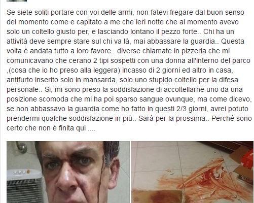 Luigi Marino pizzeria Cardito ladro ferito