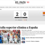 italia-Spagna prime pagine