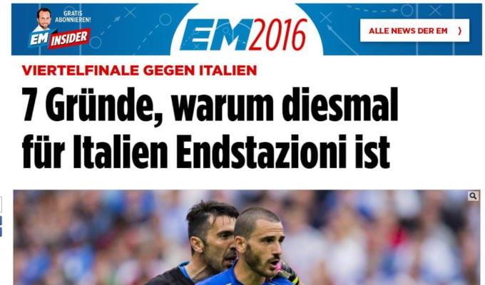 italia germania stampa tedesca