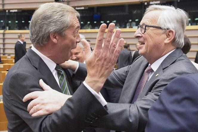 Nigel Farage Jean Claude Juncker