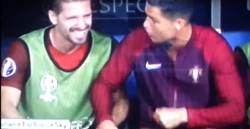 Cristiano Ronaldo scena buffa Portogallo Francia