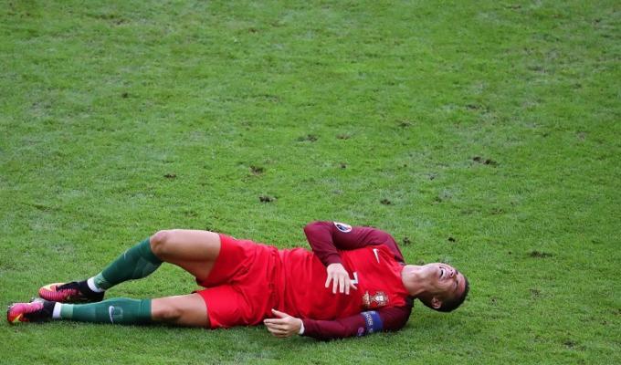Cristiano Ronaldo piange