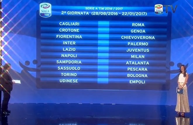 Calendario Serie A Seconda Giornata.Giornata Serie A 2 Giornalettismo