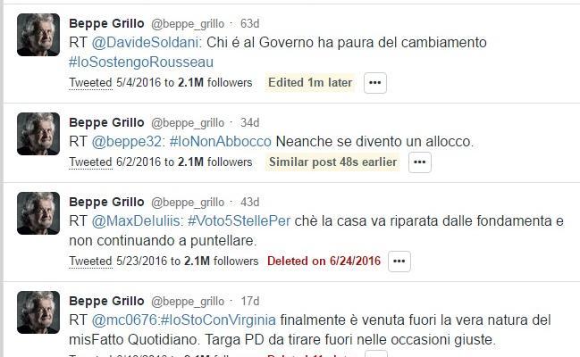 tweet cancellati account