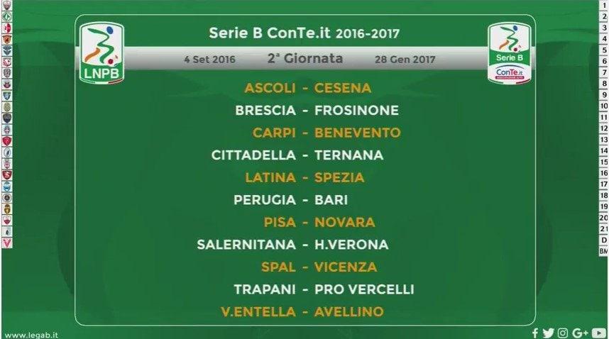 Calendario Serie A Seconda Giornata.Calendario Serie A 2016 2017 Date Orari Anticipi