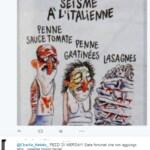 Charlie Hebdo vignetta terremoto italia Forza Nuova