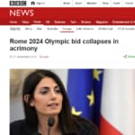 Virginia Raggi no Olimpiadi