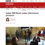 Matteo Renzi BBC intervista