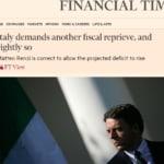 Matteo Renzi Europa Financial Times