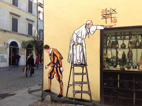 papa francesco murales