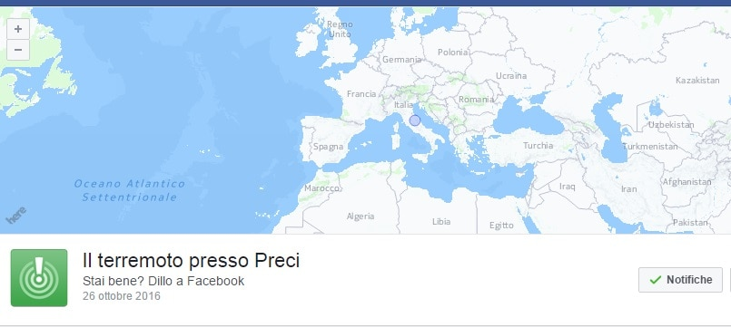 terremoto safety check facebook