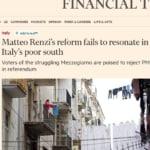 Sud referendum matteo renzi