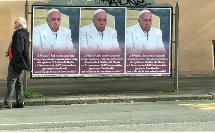 manifesti papa francesco