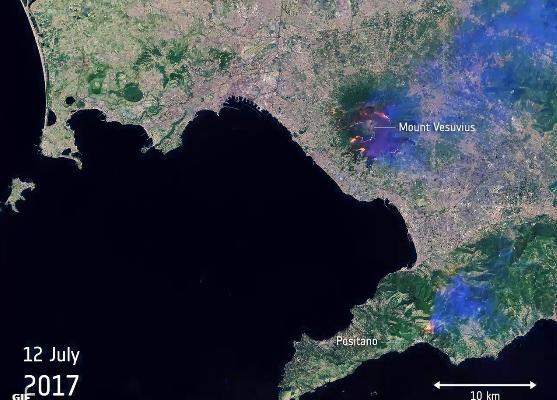 Vesuvio in fiamme