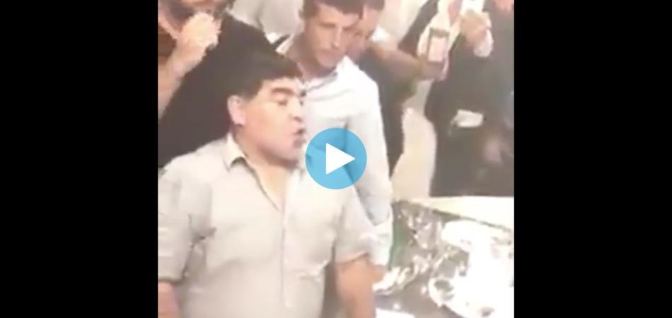 Maradona ubriaco