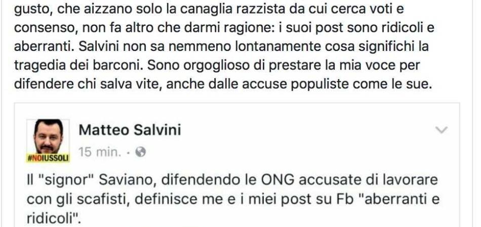 ong Saviano Salvini