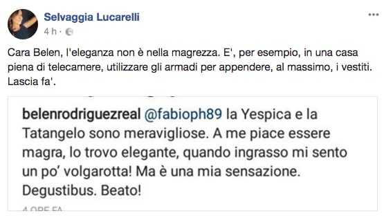 Selvaggia Lucarelli e Belen Rodriguez