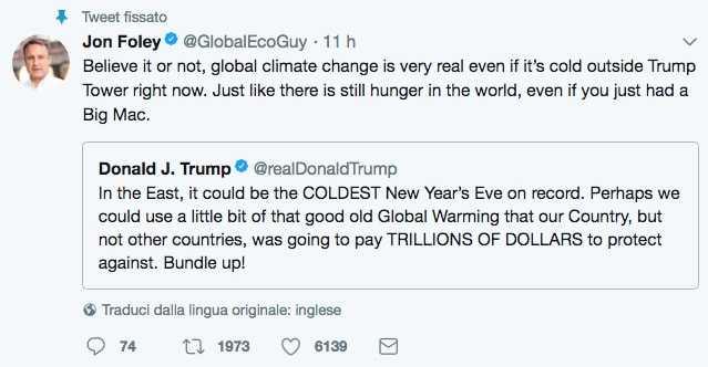 Trump confonde il meteo con il clima