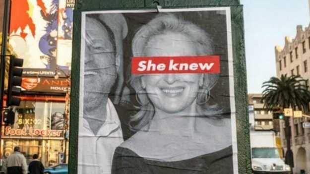 manifesti contro Meryl Streep