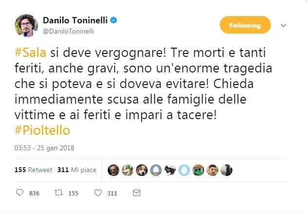 tweet toninelli
