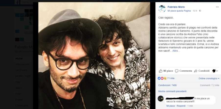 Ermal Meta e Fabrizio sospesi