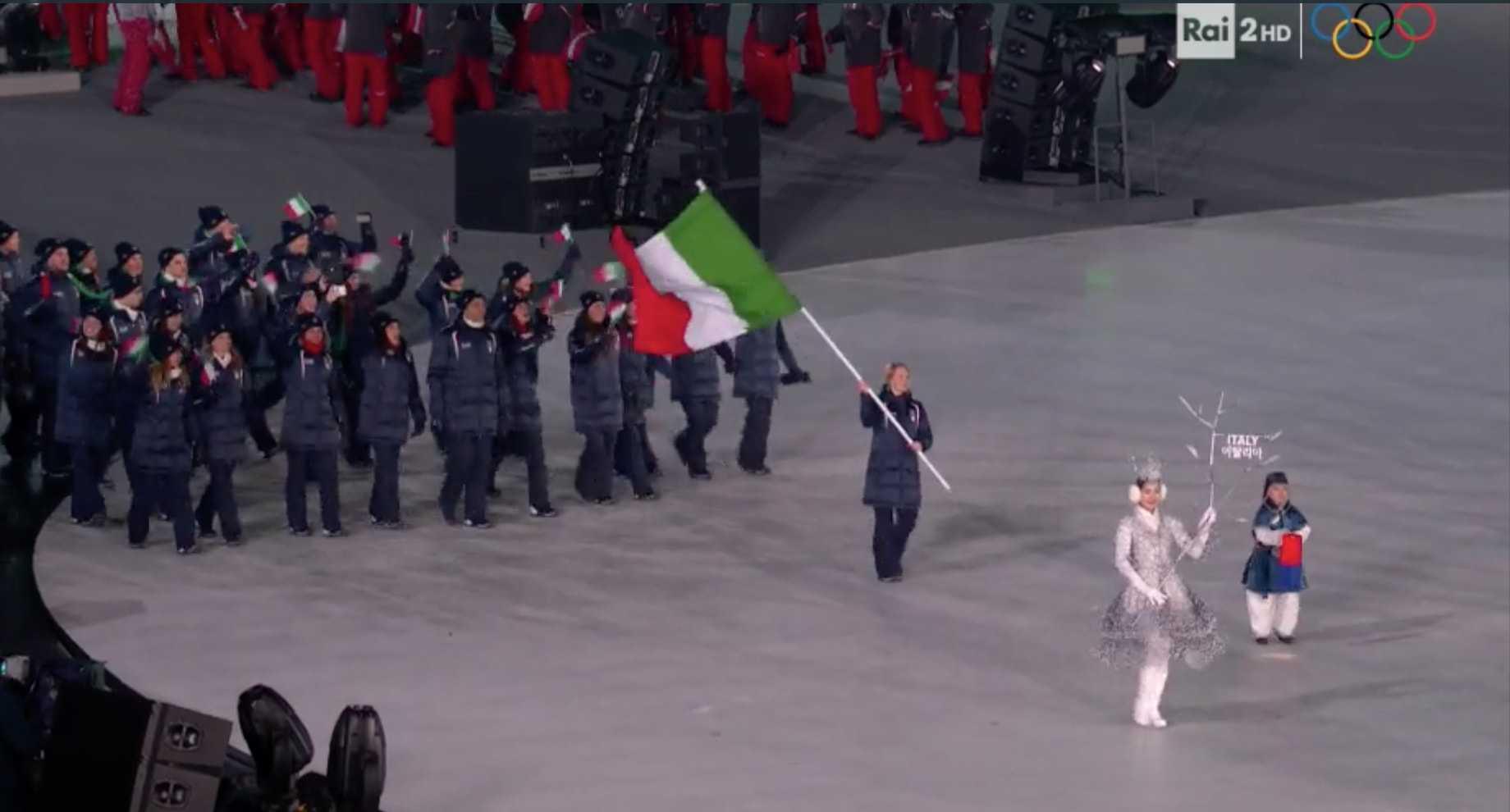 Pyeongchang 2018 la cerimonia d 39 apertura con arianna fontana for Xxiii giochi olimpici invernali di pyeongchang medaglie per paese