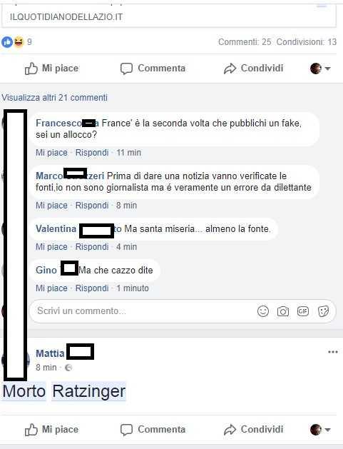 ratzinger morto