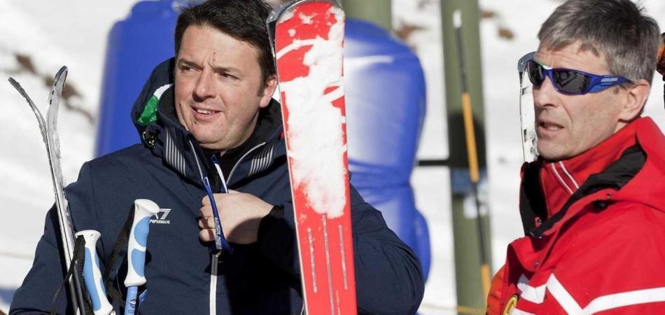 Renzi va a sciare