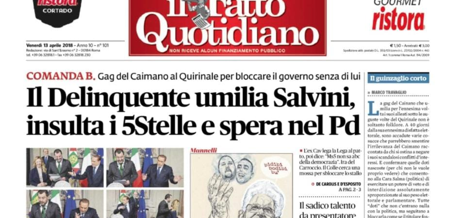 Berlusconi Querela Fatto Quotidiano Possibile Per Titolo In Cui Era