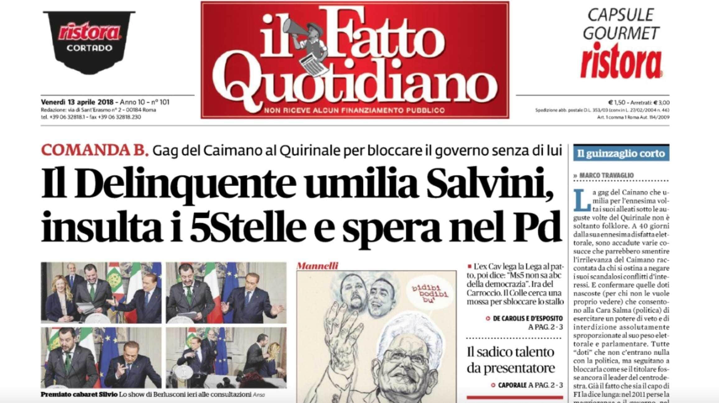 Berlusconi Querela Fatto Quotidiano Giornalettismo