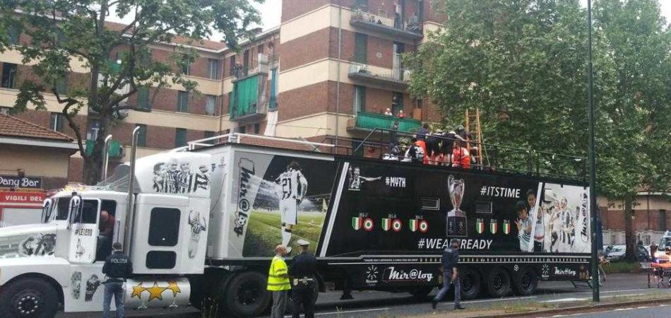 feriti festa scudetto Juventus