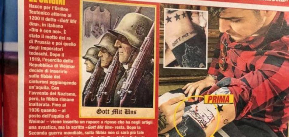 tatuaggio nazista Luigi Favoloso