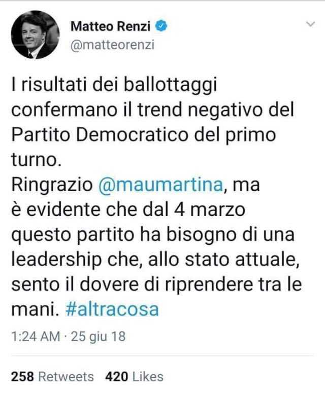 bufala Renzi