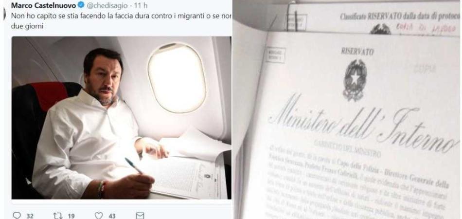 Salvini documenti riservati