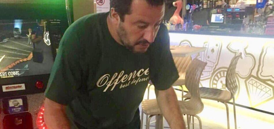 Italiani non contro migranti, Matteo Salvini