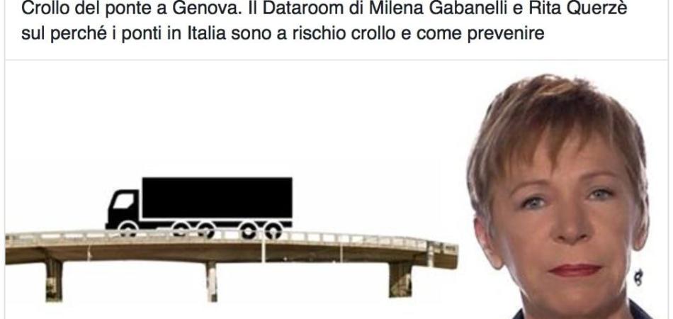 Gabanelli ponte Genova