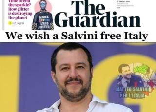 Guardian copertina Fake Salvini