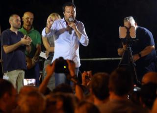 Matteo Salvini ambulanza