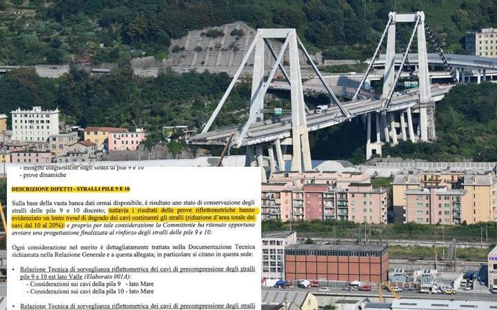 Ministero e Autostrade sapevano, Ponte Morandi - documento da L'Espresso
