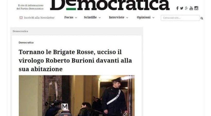 Roberto Burioni ucciso