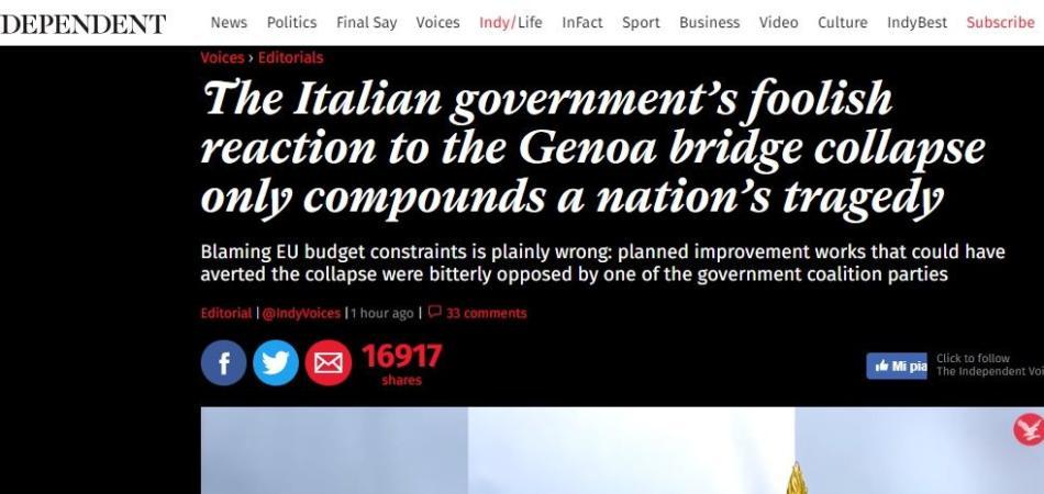 Stampa internazionale Genova
