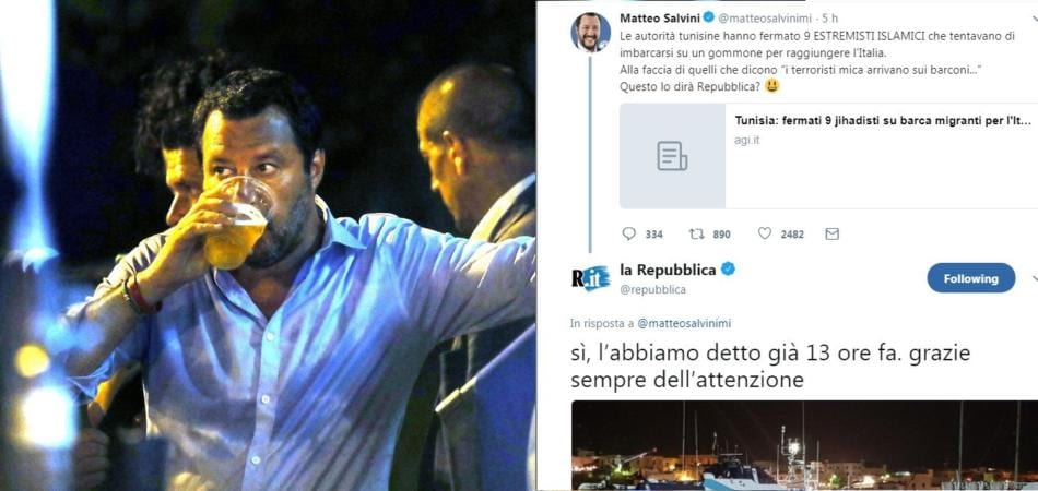Salvini smentito da Tunisia