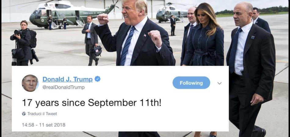 donald trump tweet 11 settembre