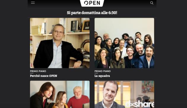 È l'ora di Open: come si legge il giornale online di Mentana
