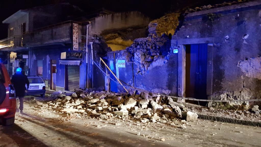 Terremoto Catania, Etna