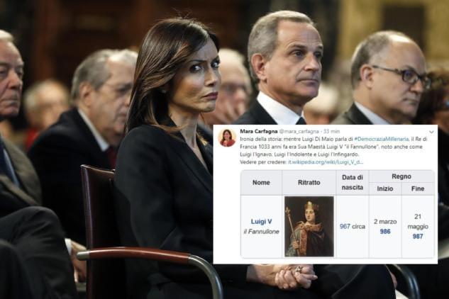 Mara Carfagna 'trolla' Luigi Di Maio sulla«democrazia millenaria»