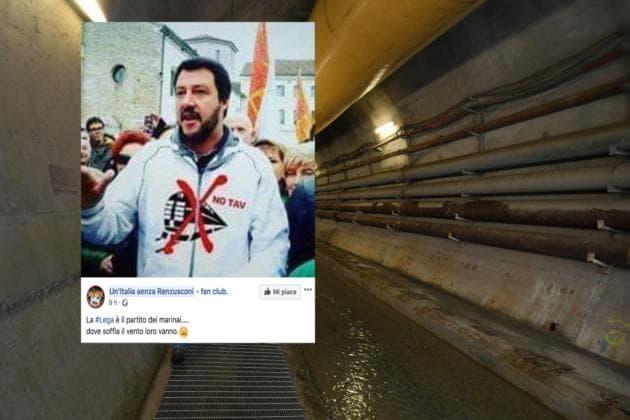 Le foto bufala di Matteo Salvini con la felpa No Tav