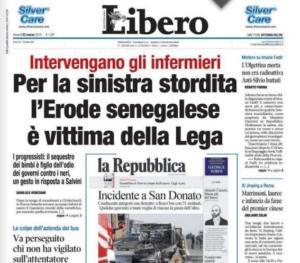 Libero Pubblica Prima Pagina Finta Repubblica San Donato