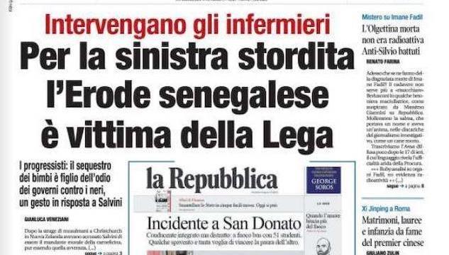 Libero E La Finta Prima Pagina Di Repubblica Su San Donato