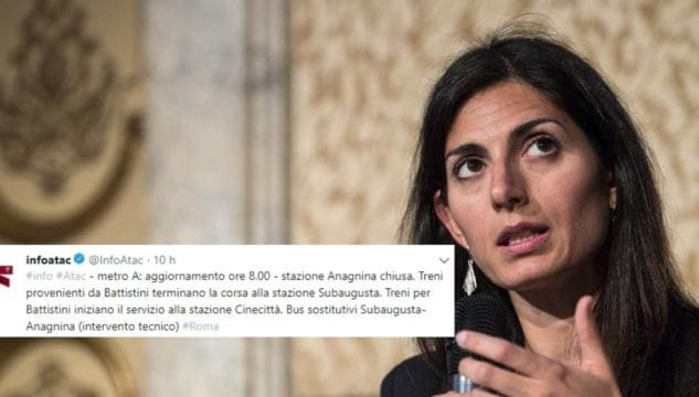 Roma, la metro deraglia e Virginia Raggi dà la colpa alle amministrazioni precedenti